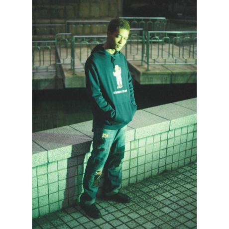 K'rooklyn × 上岡 拓也 Collaboration Hoodie -Navy-