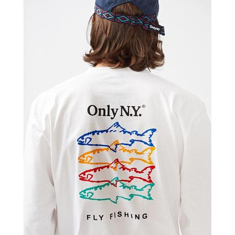 """ONLY NY""Saltwater Guide L/S T-Shirt( White)"