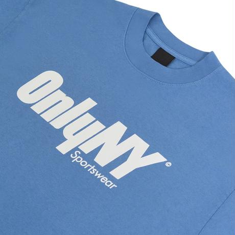 """ONLY NY""Court Logo T-Shirt( French Blue)"
