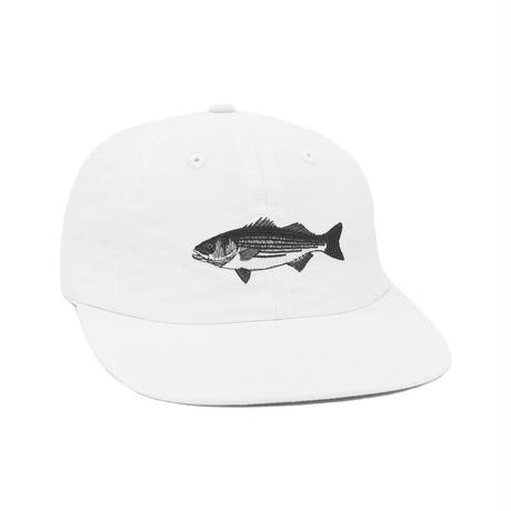 """""""ONLY NY"""" Striped Bass Polo Hat (White)"""
