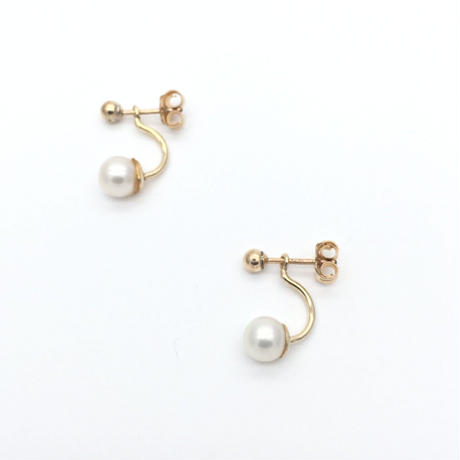 Back catch pearl pierced