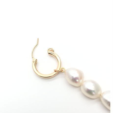 Pearls line hoops