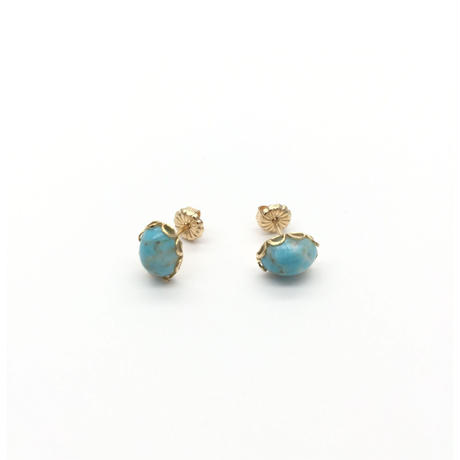 "Oval pierced  ""turquoise"""