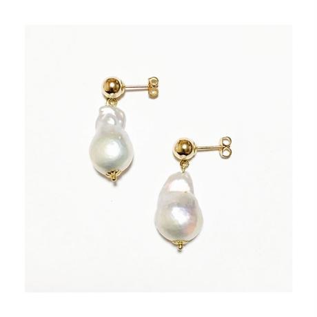 Baroque pearl pierced