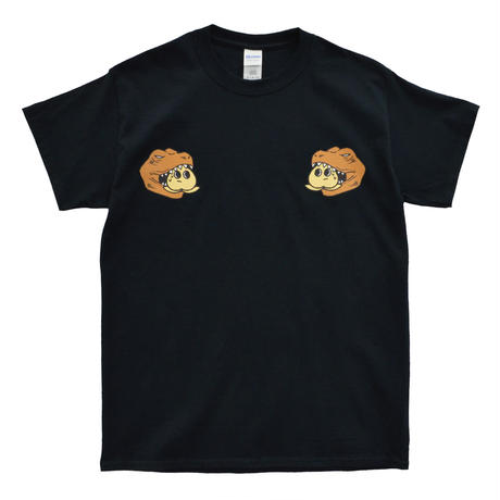 恐竜ベトシャツ風Tシャツ(ブラック)