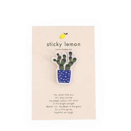 刺繍ピン カクタス- STICKY LEMON