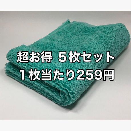 耳なしマイクロファイバークロス(薄緑カラー) 40㎝×40㎝ 5枚セット