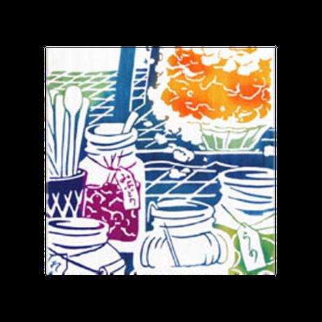 〔手拭壱本〕ちょっと長めの上等手ぬぐい 梨園染  伝統工芸注染 〈四季〉かき氷 柄(約37×約98センチ)