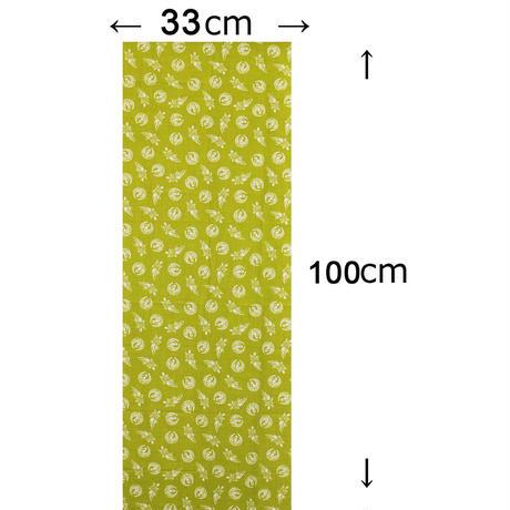 〔手拭壱本〕ちょっと長めの100センチ 上等手ぬぐい 鶴亀柄(約33×約100㎝)