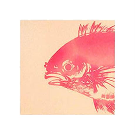 〔手拭壱本〕ちょっと長めの上等手ぬぐい 梨園染  伝統工芸注染 鯛(尾頭付) 柄(約37×約98センチ)