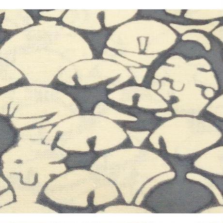 〔手拭壱本〕ちょっと長めの上等手ぬぐい 梨園染  伝統工芸注染 わいわい 柄(約37×約98センチ)