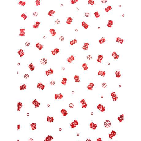〔手拭壱本〕ちょっと長めの100センチ 上等手ぬぐい 金魚と水紋 柄(約33×約100㎝)