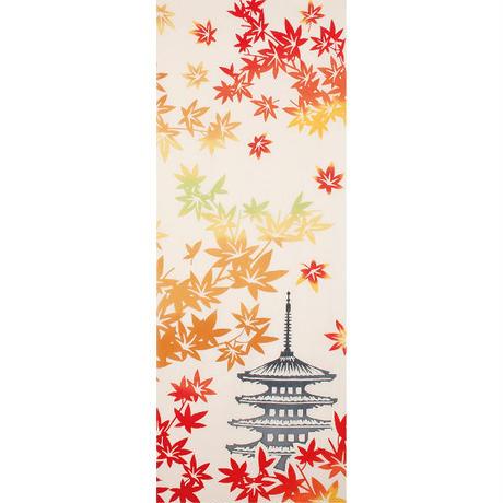 和布華 注染手ぬぐい 紅葉と五重塔(約33×約90センチ)