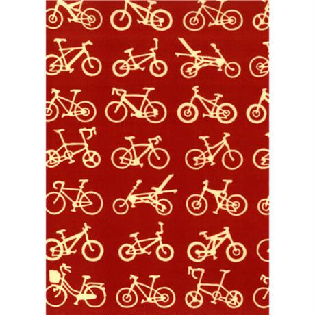 〔手拭壱本〕ちょっと長めの上等手ぬぐい 梨園染  伝統工芸注染 自転車 柄(約37×約98センチ)