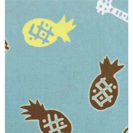 〔手拭壱本〕ちょっと長めの上等手ぬぐい 梨園染  伝統工芸注染 パイナップルウクレレ 柄(約37×約98センチ)