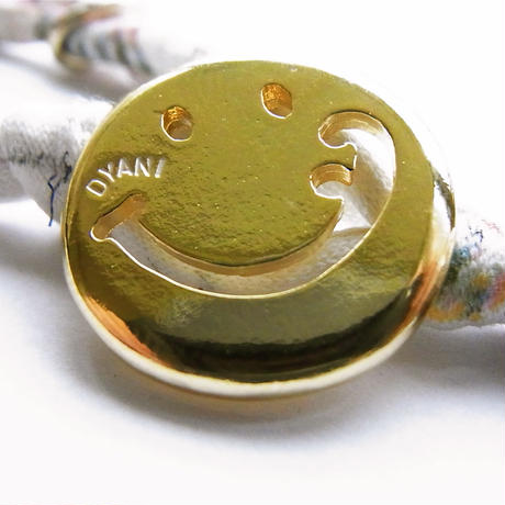 Smiley with wavy mouth Bracelet / Botanical