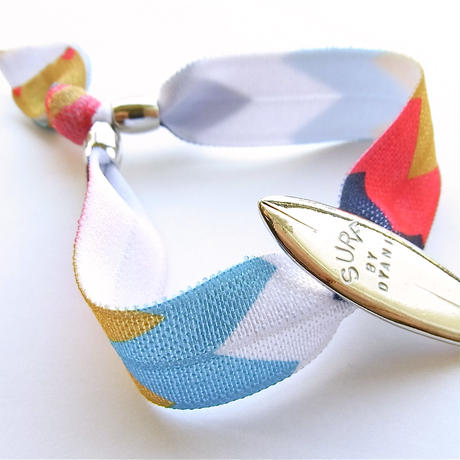 "NO WAVE NO LIFE + COLORS ""ALOHA & SURF"" RIBBON TAPE Bracelet"