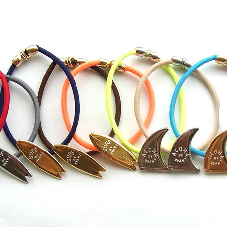 "NO WAVE NO LIFE + COLORS ""ALOHA & SURF"" HAIR TIE TYPE Bracelet"