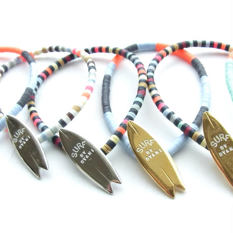 "NO WAVE NO LIFE + COLORS ""ALOHA & SURF"" BEADS TYPE Bracelet"