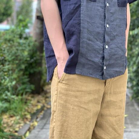 フレンチリネンコンビ ショートワイドシャツ NFS-21210EN / NATIC