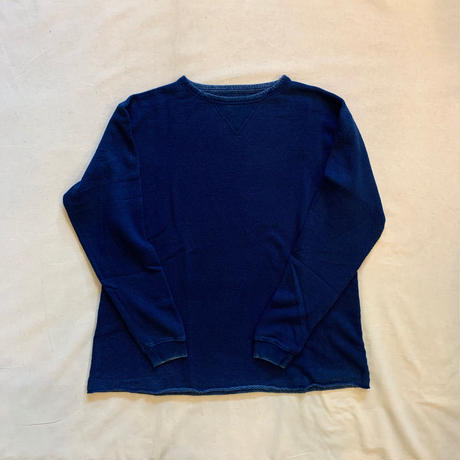 FRENCH THERMAL CREWNECK (BLUE) / Porter Classic