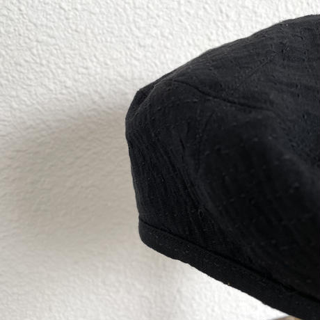 SASHIKO STRETCH BERET (BLACK)  PC-055-1537 / Porter Classic
