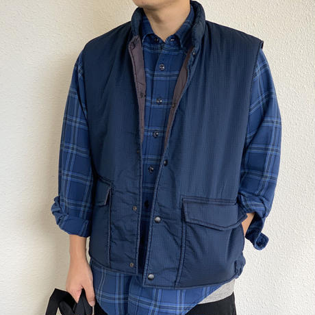COTTON NYLON VEST (Indigo) 01-9011 / orSlow