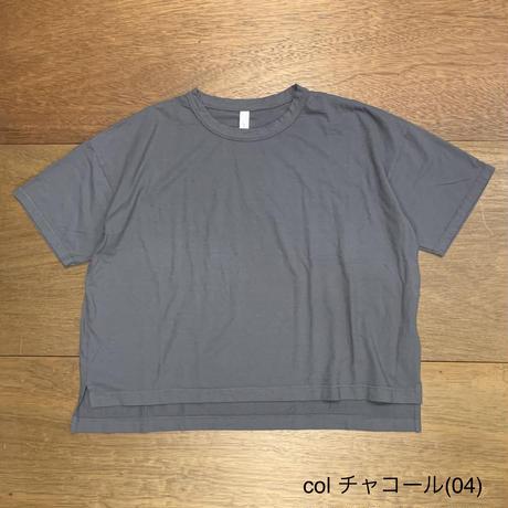 30/1リサイクルムラ糸天竺、TOP杢 5分袖ワイドTシャツ P92174 / prit