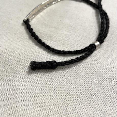 SILVER & BLACK LINEN BRACELET ( HEART) PC-011-1649 / Porter Classic