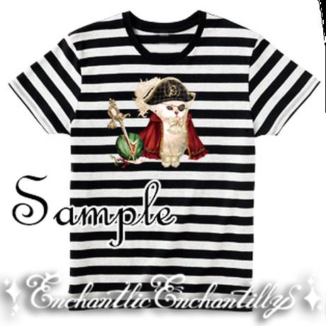 Elegant 海賊キャット Tシャツ&リングセット