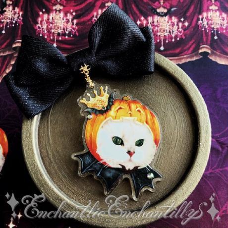 ♦︎Jack-o'-Lantern Cat ブローチ&リングset♦︎