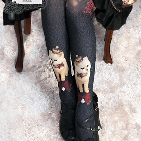 Queen Cat~秘密の書斎~オーバーニーソックス