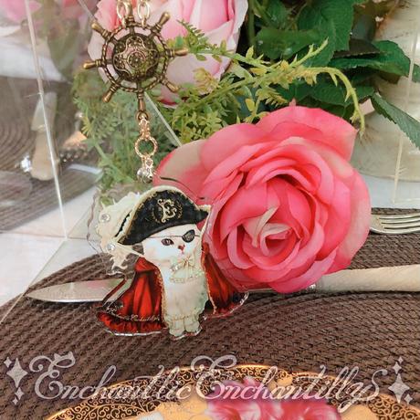 Elegant 海賊キャット ネックレス&スイカブローチセット