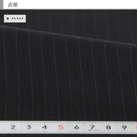 【20-2Y6C02】 ツーパンツスーツ メンズスーツ 黒 ストライプ 秋冬 ワンタック