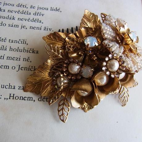 ミニブーケのヘッドドレス(*受注生産)