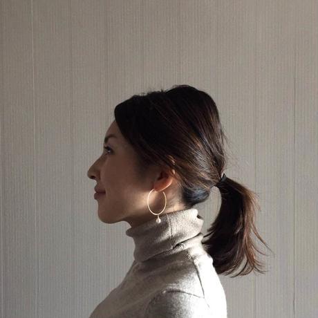K18アコヤ真珠/イヤリング&ピアス兼用チャーム