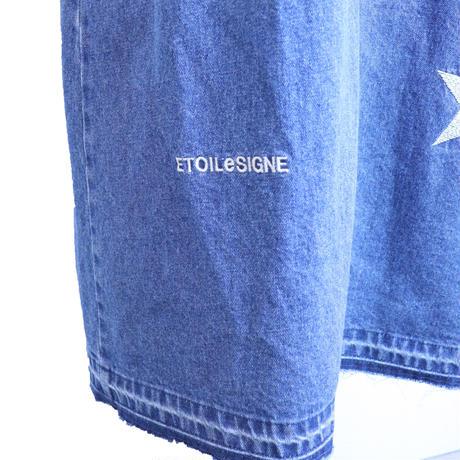 2011701 星刺繍デニムスカート