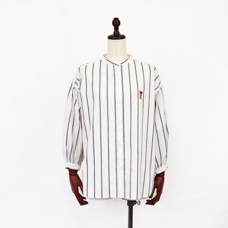 2011601 ストライプパフスリーブシャツ