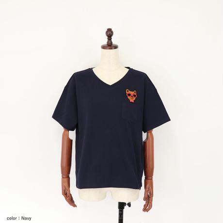 2001117 KOMATSU  VネックTシャツ
