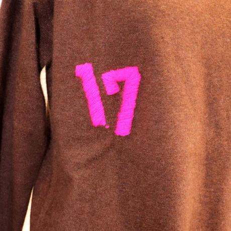 2007201 ラクーン混ラウンドネックプルオーバー
