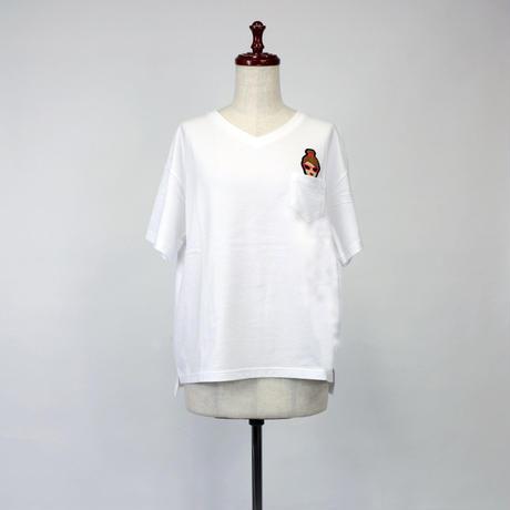 1903121 天竺BIG Tシャツ半袖Vネック(キャサリン)