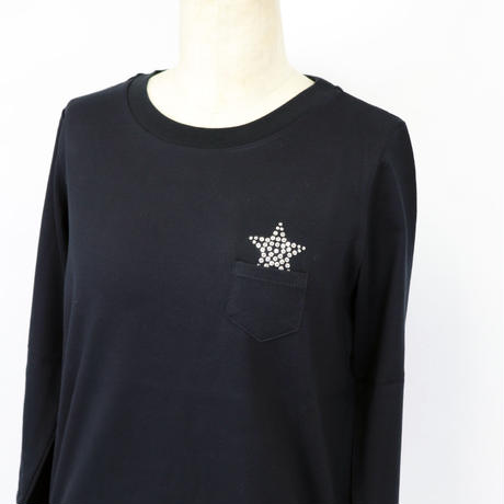 1904120   星スワロクルーネックロンT (Swarovski Star Long sleeves Crew-neck Tee)