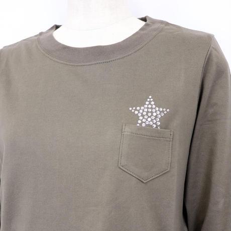 1904119 星スワロVネックロンT(Swarovski Star Long sleeves V-neck Tee)