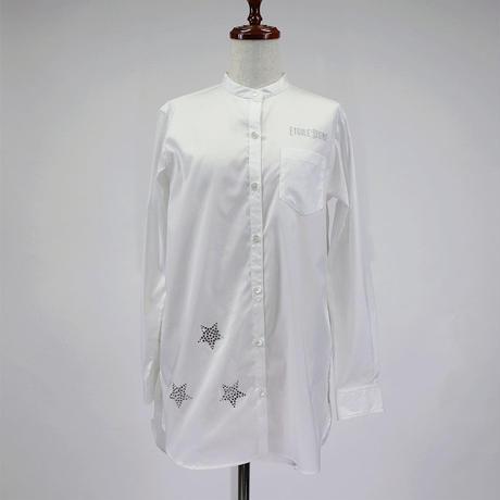 1810605 スタンド衿ロングシャツ