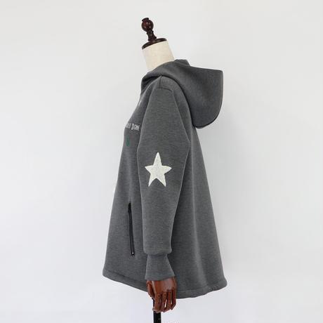 1910106 ボンディングスワロ×刺繍Aラインジップパーカー