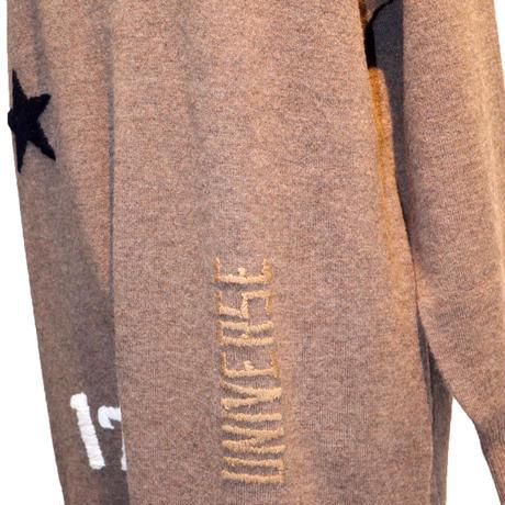 2007208配色Vネックハンド刺繍ワンピース