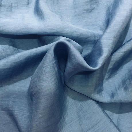 VOLUME SHEER BLOUSE〈BLUE〉