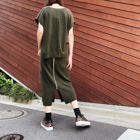 PIPING PILE VEST〈GREEN〉
