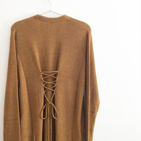 BACK LACE UP LONG CD〈BROWN〉