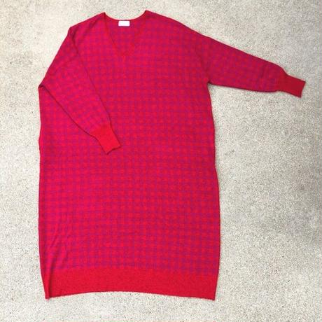 GINGHAM CHECK BIG OP〈RED〉